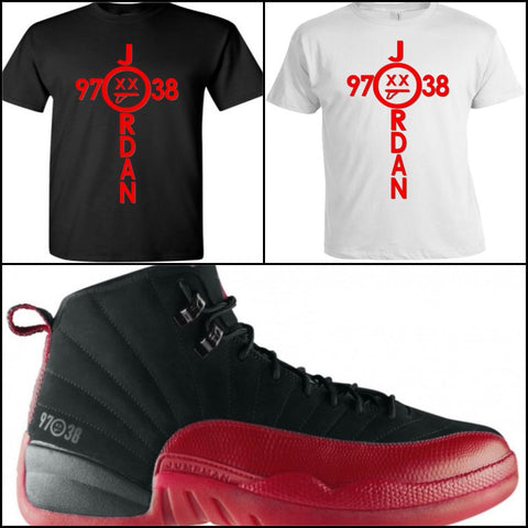 EXCLUSIVE SHIRT to match NIKE AIR JORDAN 12 RETRO FLU GAMEs!