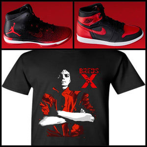 "EXCLUSIVE TEE/T-SHIRT to match NIKE AIR JORDAN BANNED BREDS! ""JACKSON BREDS"""