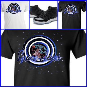 "EXCLUSIVE TEE/T-SHIRT to match the NIKE AIR JORDAN 9 OR 11 ""SPACE JAM"" SHOES!"