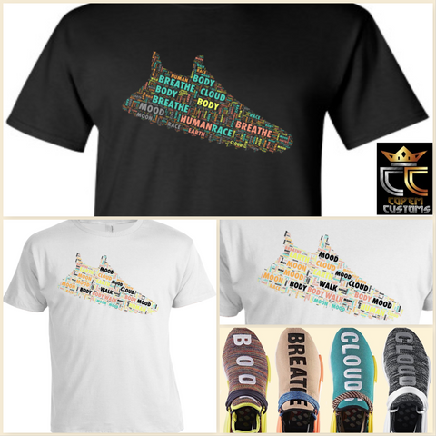 EXCLUSIVE TEE / T-SHIRT to match ANY Adidas Pharrell x NMD Trail 'Human Race' Colorway!