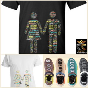 EXCLUSIVE TEE / T-SHIRT 3 to match ANY Adidas Pharrell x NMD Trail 'Human Race' Colorway!