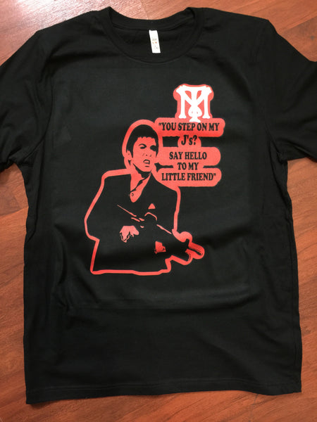 EXCLUSIVE SCARFACE TEE/T-SHIRT WITH **3M** to match ANY NIKE AIR JORDAN INFRAREDS!
