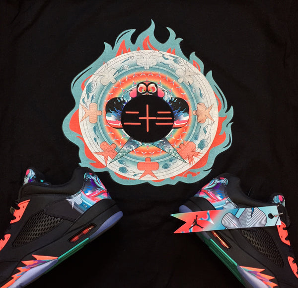 "EXCLUSIVE TEE SHIRT #2 to match the AIR JORDAN 4 & 5 CHINESE NEW YEAR COLLECTION ""CNY""!"