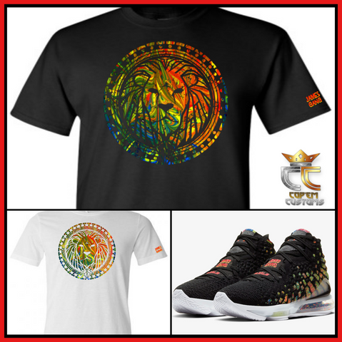 "EXCLUSIVE TEE/T SHIRT to match NIKE LEBRON JAMES 17 ""JAMES GANG""!"