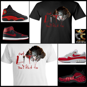 EXCLUSIVE IT LIT PENNY WISE T-SHIRT 3 to match ANY kicks! NIKE/JORDANS/REEBOK/ADIDAS/BREDS KICKS