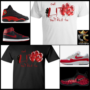 EXCLUSIVE IT LIT PENNY WISE T-SHIRT 2 to match ANY kicks! NIKE/JORDANS/REEBOK/ADIDAS/BREDS KICKS