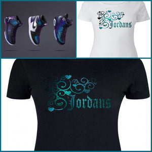 LADIES / WOMENS TEE/SHIRT to match AIR JORDAN 1 6 & 31 2017 ALL-STAR COLLECTION