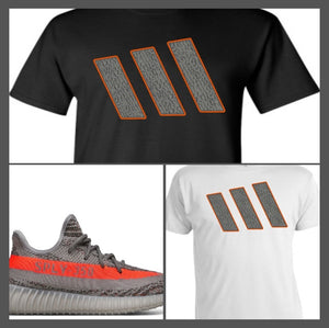"EXCLUSIVE TEE SHIRT to match the ADIDAS YEEZY BOOST 350 V2'S ""V2 STRIPES"""