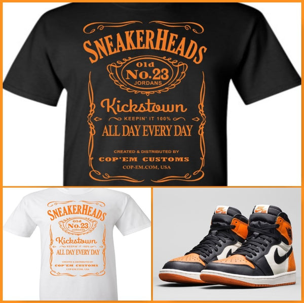 "EXCLUSIVE TEE SHIRT to match the NIKE AIR JORDAN 1 SHATTERED BACKBOARDS-""JORDANS ADDICTION"""
