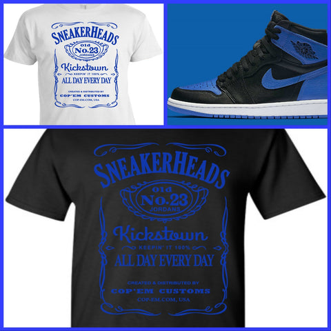 EXCLUSIVE TEE/T-SHIRT to match the NIKE AIR JORDAN 1 OR 31 XXXI ROYALS or ANY BLUE JORDANS!
