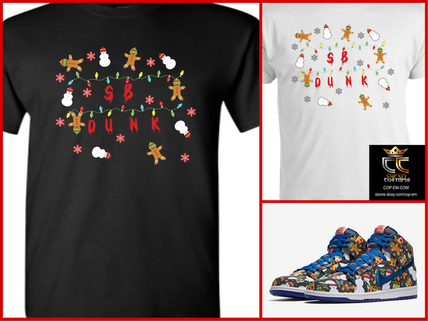 EXCLUSIVE TEE/T-SHIRT to match the CONCEPTS x NIKE SB DUNK UGLY CHRISTMAS SWEATER 2017!