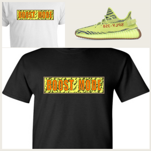 "EXCLUSIVE TEE/T-SHIRT to match the ADIDAS YEEZY BOOST 350 V2 BELUGAS OR FROZEN YELLOW ""BOOST MODE V2"""