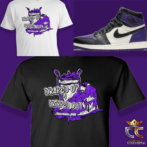 EXCLUSIVE TEE/T-SHIRT 1 to match NIKE AIR JORDAN 1 COURT PURPLE or RAPTORS