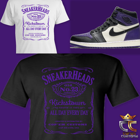 EXCLUSIVE TEE/T-SHIRT 1 to match NIKE AIR JORDAN 1 COURT PURPLE OR JORDAN RAPTORS