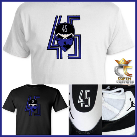 EXCLUSIVE T-SHIRT 2 to match Air Jordan 11 Concord or Jordan Double Nickles!