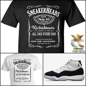 EXCLUSIVE T-SHIRT 1 to match Air Jordan 11 Concord or Jordan Double Nickles!