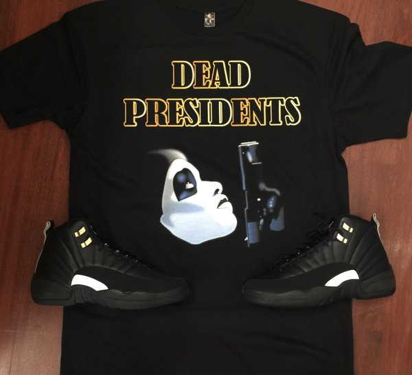 EXCLUSIVE TEE SHIRT to match the NIKE AIR JORDAN 12 MASTERS! DEAD PREZ GOLD