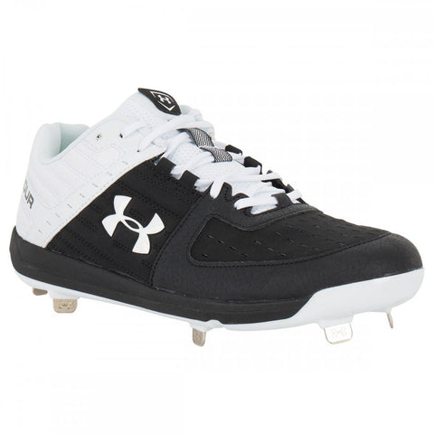 Under Armour Ignite Men's Low Metal Cleats - Black/White - Size 10 & 9.5 US