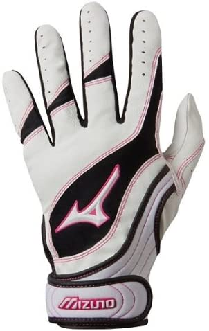 Mizuno Finch Premier G3 Batting Glove, Youth X-Small, Small and Medium White/Pink