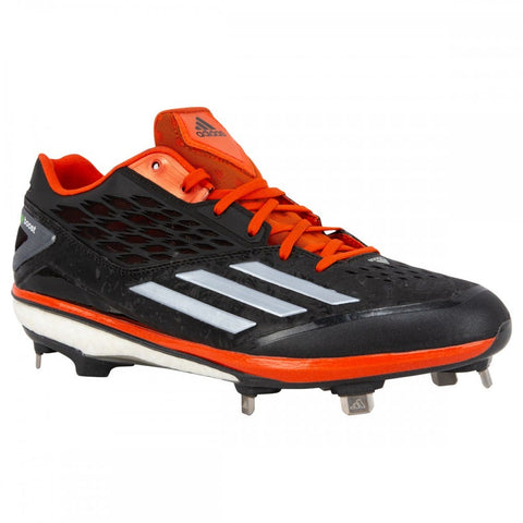 Adidas Energy Boost Icon Men's Low Metal Cleats - Black/Gray/Orange