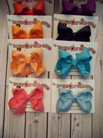 Small Solid Boutique Single Layer Hair Bow