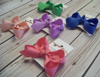 Toddler Solid Boutique Single Layer Hair Bow