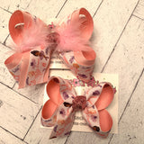 Tiny Dancer Ballerina Ballet Large Medium or Small Layered Hair Bow