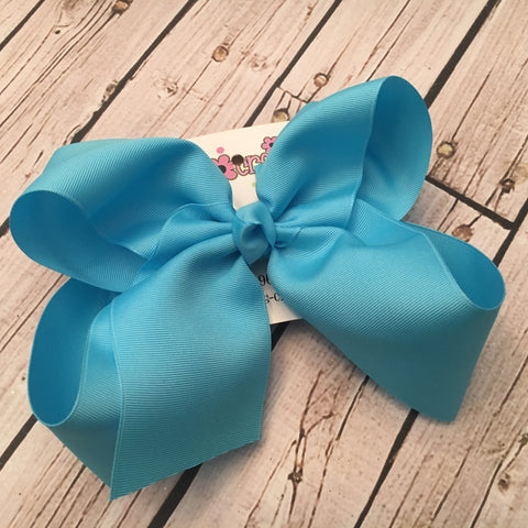 Jumbo/Mega/XLarge Solid Boutique Single Layer Hair Bow