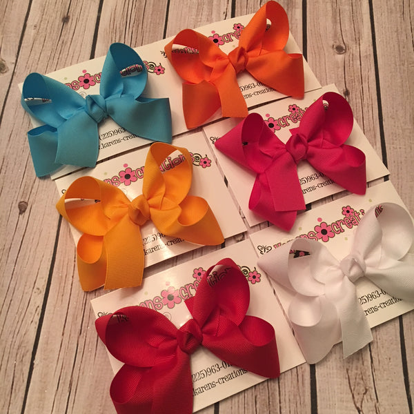 Medium Solid Boutique Single Layer Bow