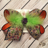 Canvas Sugar Skulls Jumbo or Large Layered Hair Bow