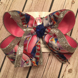 Dumbo the Flying Elephant Large or Medium Layered Hair Bow