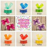 Jelly Waterproof Ribbon Jumbo Large Medium or Small Single Layer Hair Bow