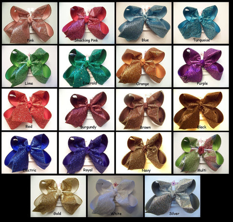 Large Glitter Ribbon Layered Bows