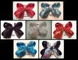 Sequin Ribbon Large Layered Hair Bow
