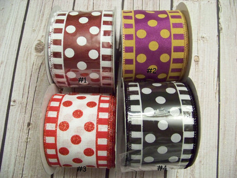 Assorted Dots/Stripes School/Uniform Prints Jumbo or Large Layered Hair Bows