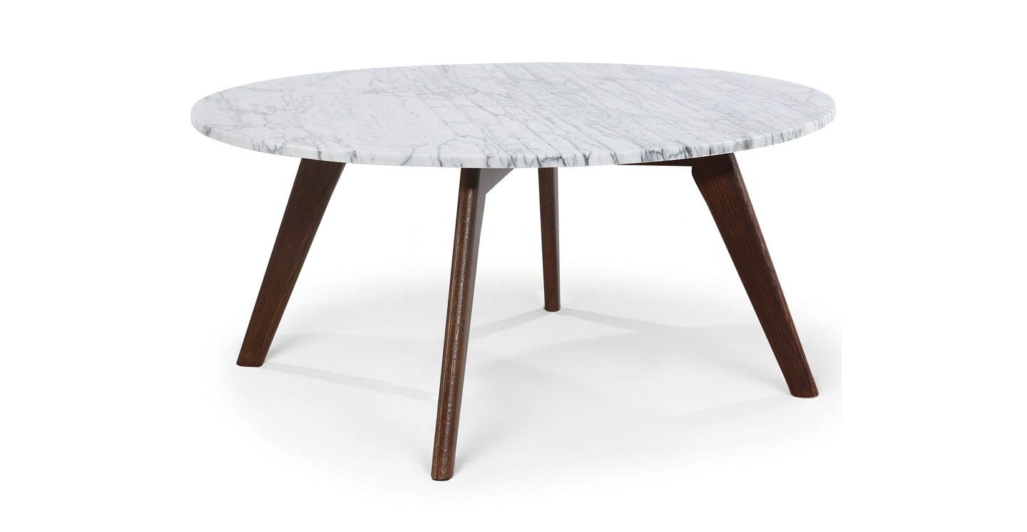 Riley Marble Round Coffee Table - Poly & Bark
