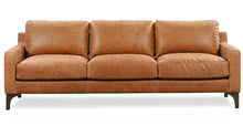 Load image into Gallery viewer, Cognac Tan, Italian Leather Sofa