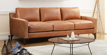 Load image into Gallery viewer, Full Grain Tan Leather Sofa
