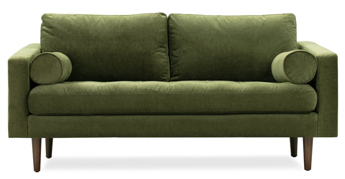 Distressed Green, Velvet Sofa