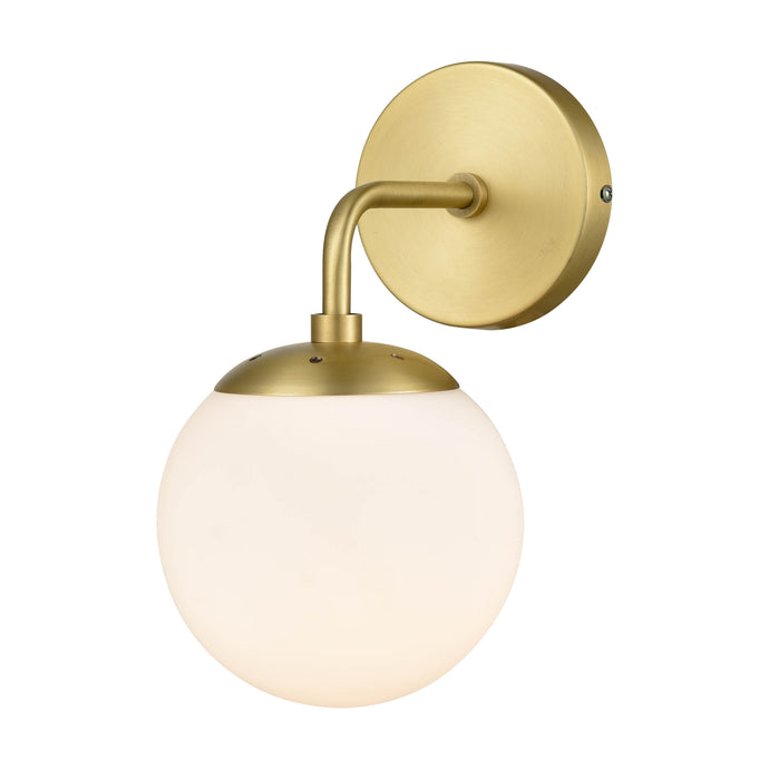 Brushed Brass/White