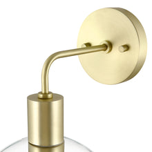 Load image into Gallery viewer, Brushed Brass/Clear