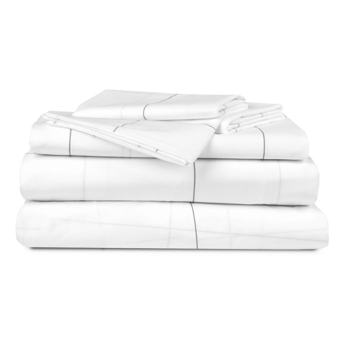 Heavenly Percale Bundle - Includes: 1 Flat Sheet, 1 Fitted Sheet, 1 Duvet Cover, and 4 Pillowcases