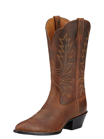 Ariat Women's Heritage Western R Toe - Distressed Brown