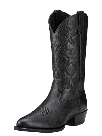 Ariat Men's Heritage Western R Toe Boot - Black