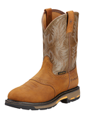 Ariat WorkHog Pull-On Work Boot - Aged Bark/Army Green