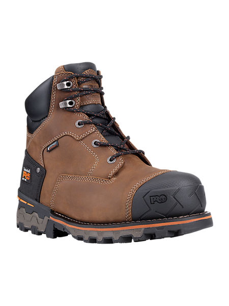 "Timberland PRO Boondock 6"" Waterproof - Brown Oiled Distressed Leather"