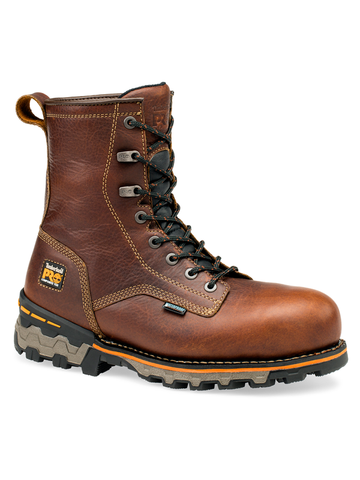 "Timberland PRO Boondock 8"" Waterproof - Brown Tumbled Leather"
