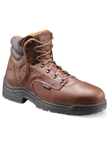 "Timberland PRO Titan 6"" Safety Toe - Coffee Full-Grain Leather"