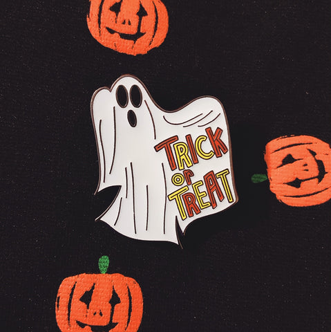 Trick or Treat Ghost Lapel Pin