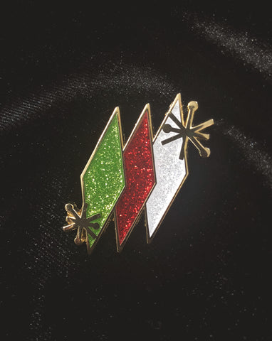 Atomic Christmas Lapel Pin